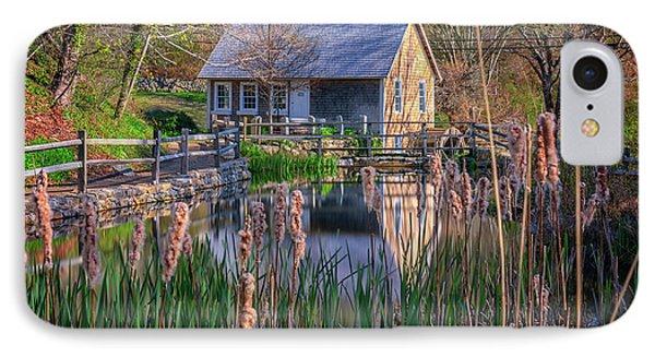 Stony Brook Grist Mill IPhone Case by Rick Berk