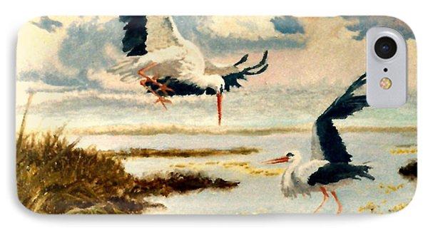 Storks II Phone Case by Henryk Gorecki