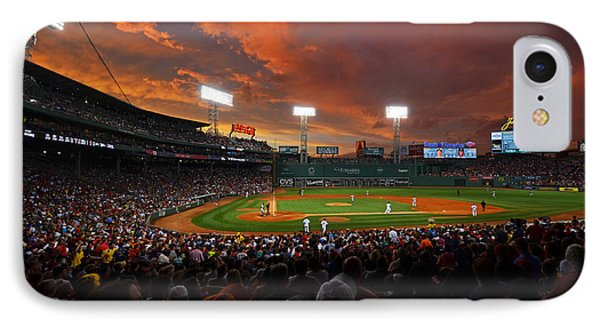 Storm Clouds Over Fenway Park IPhone Case by Toby McGuire