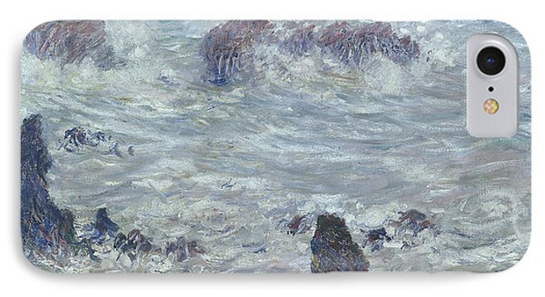 Storm Off The Coast Of Belle Ile Phone Case by Claude Monet