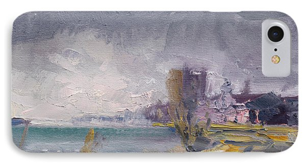 Storm Over Buffalo River  IPhone Case by Ylli Haruni