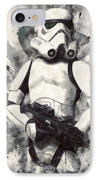 Stormtrooper IPhone Case by Taylan Apukovska