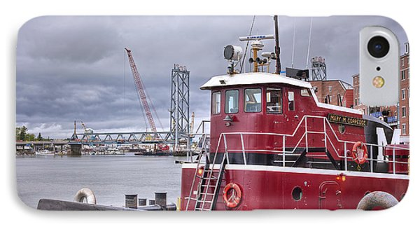 Stormy Tug IPhone Case by Eric Gendron