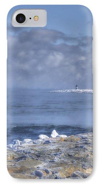 Straitsmouth Island Lighthouse - Rockport Ma IPhone Case by Joann Vitali