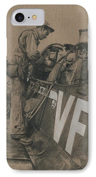 Strapping In IPhone Case by Wade Meyers