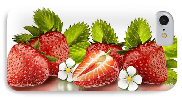 Strawberries IPhone 7 Case by Veronica Minozzi