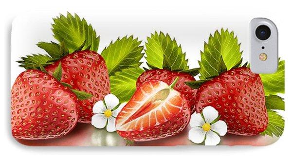 Strawberries IPhone Case by Veronica Minozzi