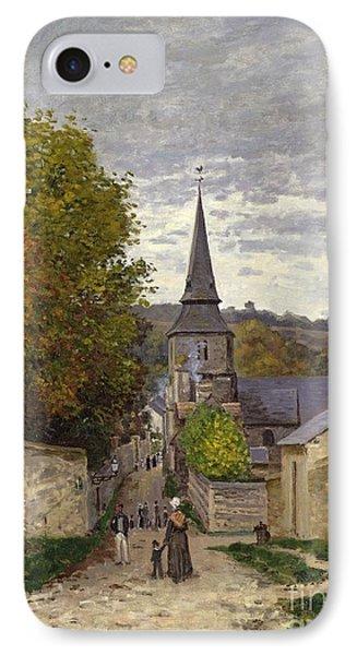 Street In Sainte Adresse IPhone Case by Claude Monet
