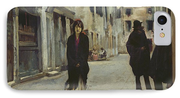 Street In Venice,  IPhone Case by John Singer Sargent