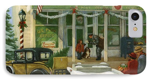 Street Scene In Small Town With People IPhone Case by Gillham Studios