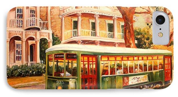Streetcar In The Garden District IPhone Case by Diane Millsap