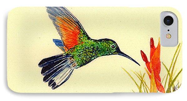 Stripe Tailed Hummingbird Phone Case by Michael Vigliotti