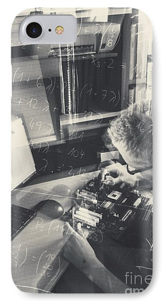 Student Engineer Building Model Circuitry IPhone Case by Jorgo Photography - Wall Art Gallery