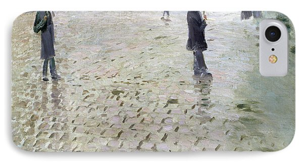 Study For A Paris Street Rainy Day IPhone Case by Gustave Caillebotte