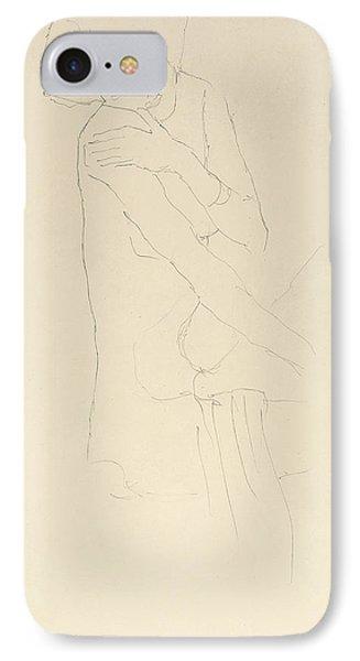 Study For Adele Bloch Bauer II IPhone Case by Gustav Klimt