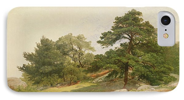 Study For Trees On Beverly Coast IPhone Case by John Frederick Kensett