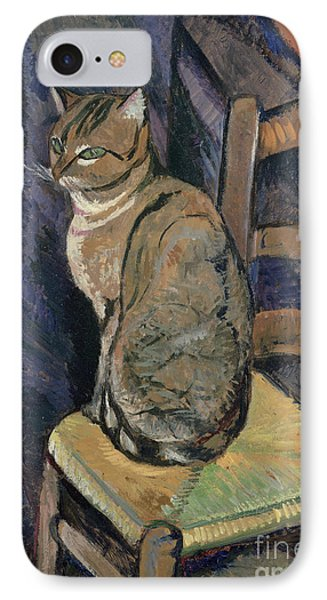 Study Of A Cat IPhone Case by Suzanne Valadon