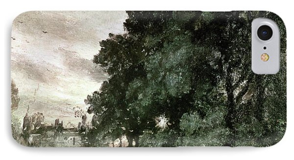 Study Of Trees Phone Case by John Constable