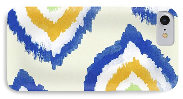 Summer Ikat- Art By Linda Woods IPhone 7 Case by Linda Woods