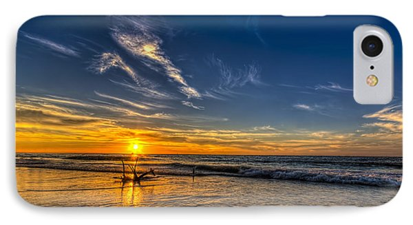Sun And Surf IPhone Case by Marvin Spates
