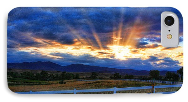 Sun Beams In The Sky At Sunset IPhone Case by James BO  Insogna