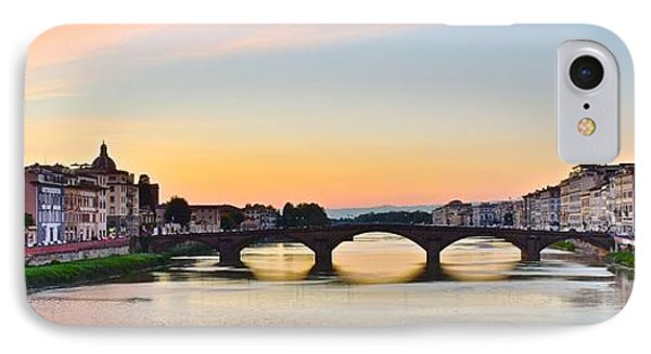 Sun Sets On Florence IPhone Case by Frozen in Time Fine Art Photography