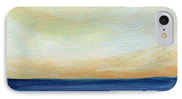 Sun Swept Coast- Abstract Seascape IPhone Case by Linda Woods