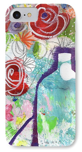 Sunday Market Flowers 2- Art By Linda Woods IPhone Case by Linda Woods