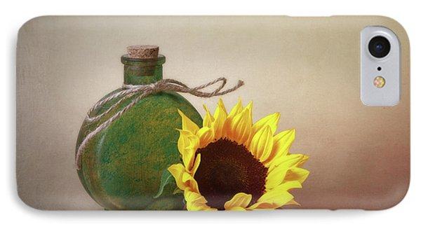 Sunflower And Green Glass Still Life IPhone Case by Tom Mc Nemar