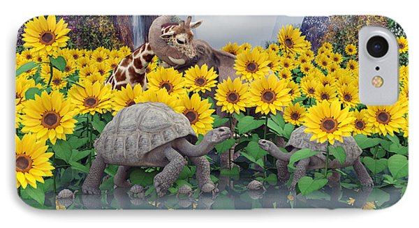 Sunflower Daydream  IPhone Case by Betsy Knapp