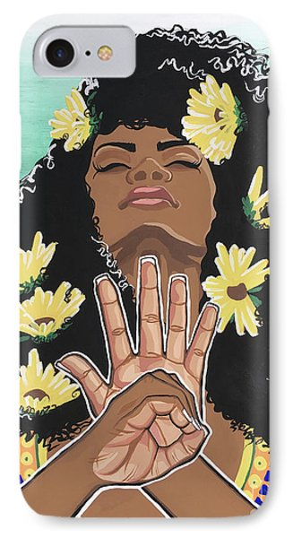 Sunflowers And Dashiki IPhone Case by Alisha Lewis