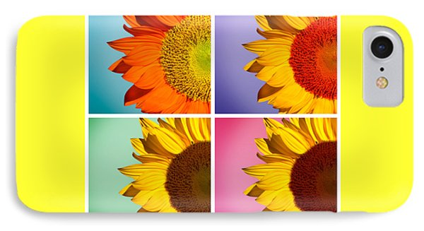 Sunflowers Collage IPhone 7 Case by Mark Ashkenazi