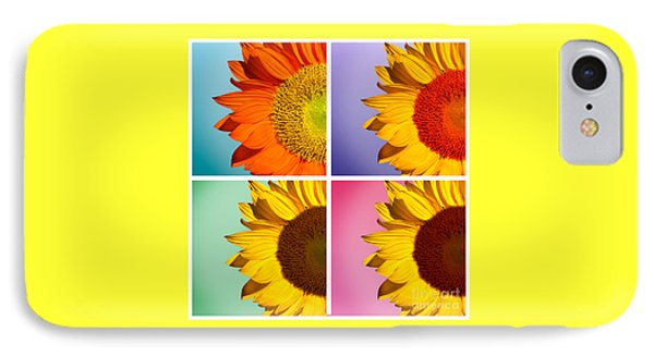 Sunflowers Collage IPhone Case by Mark Ashkenazi