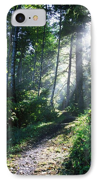 Sunlight Through Trees, Ecola State Phone Case by Natural Selection Craig Tuttle