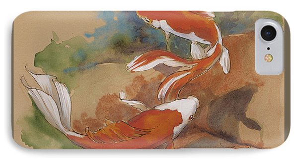 Sunlit Goldfish IPhone Case by Tracie Thompson