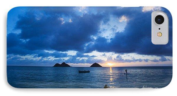 Sunrise At Lanikai Phone Case by Dana Edmunds - Printscapes
