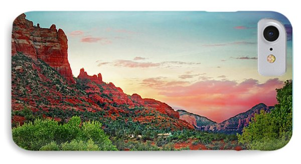 Sunrise In Sedona  IPhone Case by Jennifer Rondinelli Reilly