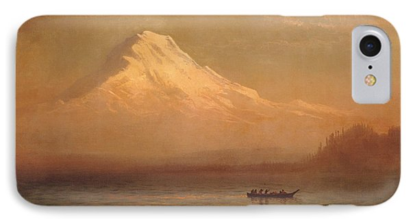 Sunrise On Mount Tacoma  IPhone Case by Albert Bierstadt