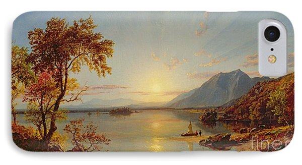 Sunset  Lake George IPhone Case by Jasper Francis Cropsey