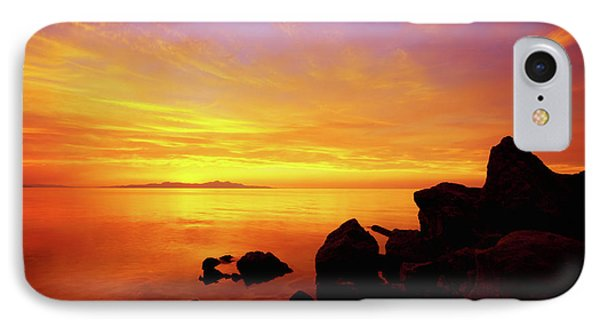 Sunset And Fire IPhone Case by Chad Dutson