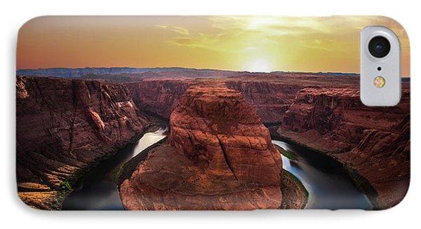 Sunset At Horseshoe Bend IPhone Case by Larry Marshall