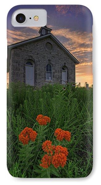 Sunset At Lower Fox Creek Schoolhouse IPhone Case by Rick Berk
