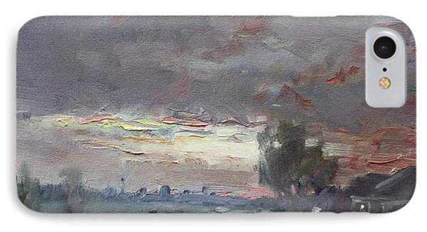 Sunset In A Rainy Day IPhone Case by Ylli Haruni