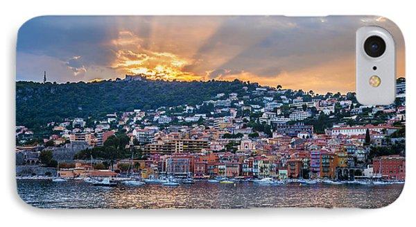 Sunset In Villefranche-sur-mer IPhone Case by Elena Elisseeva