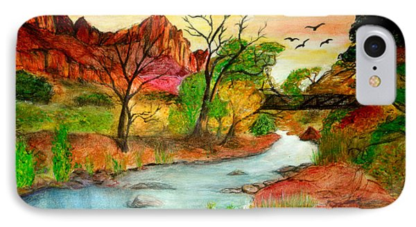 Sunset In Zion Phone Case by Joanna Aud