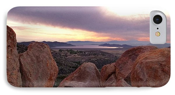Sunset Over Diamond Valley Lake Phone Case by Glenn McCarthy Art and Photography
