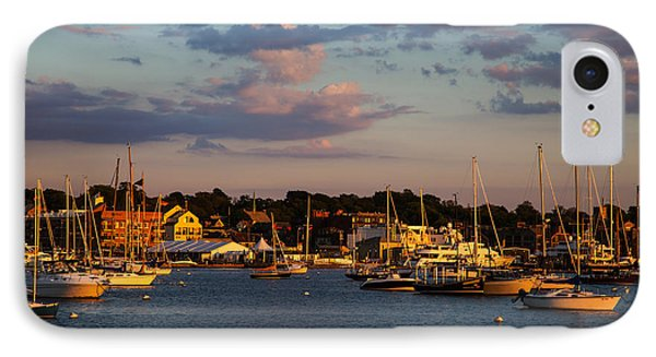 Sunset Over Newport IPhone Case by Karol Livote