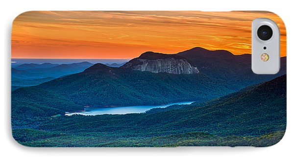 Sunset Over Table Rock From Caesars Head State Park South Carolina IPhone Case by T Lowry Wilson