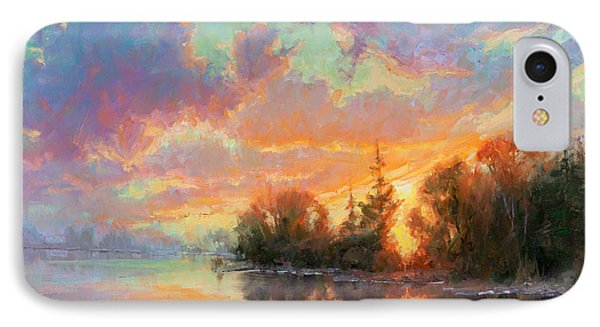 Sunset Reflections IPhone Case by Becky Joy