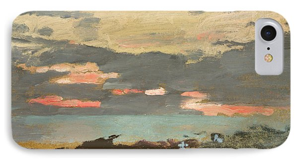 Sunset, Saco Bay IPhone Case by Winslow Homer